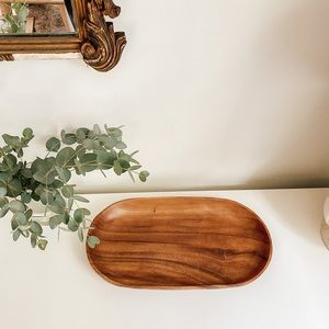 Mid century wood tray